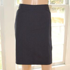 (Banana Republic) Pinstripe Pencil Skirt